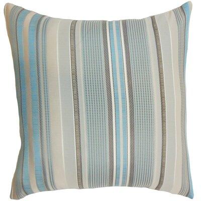 Saxony Stripes Floor Pillow Color: Blue