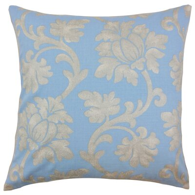 Anamaria Floral Floor Pillow Color: Chambray