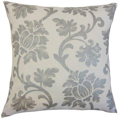 Anamaria Floral Floor Pillow Color: Platinum