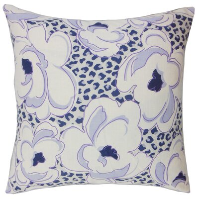Dunleavy Floral Floor Pillow Color: Wisteria
