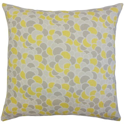 Jacoby Geometric Floor Pillow Aquamarine Color: Canary
