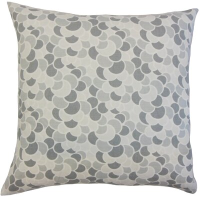 Jacoby Geometric Floor Pillow Aquamarine Color: Pewter