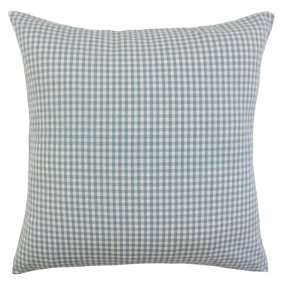 Noreen Plaid Floor Pillow Color: Aqua