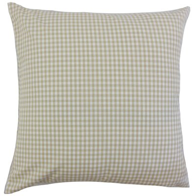 Noreen Plaid Floor Pillow Color: Beige