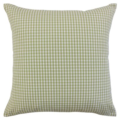Noreen Plaid Floor Pillow Color: Sage