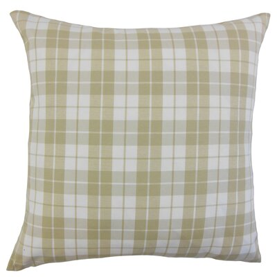 Joan Plaid Floor Pillow Color: Beige