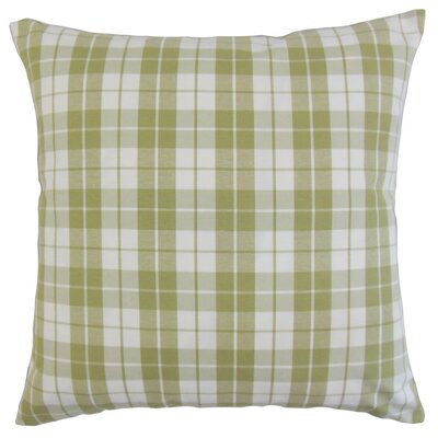 Joan Plaid Floor Pillow Color: Sage