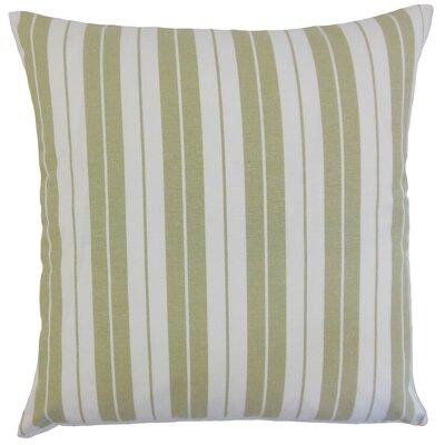 Mcdermott Stripes Floor Pillow Color: Sage