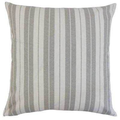 Mcdermott Stripes Floor Pillow Color: Slate