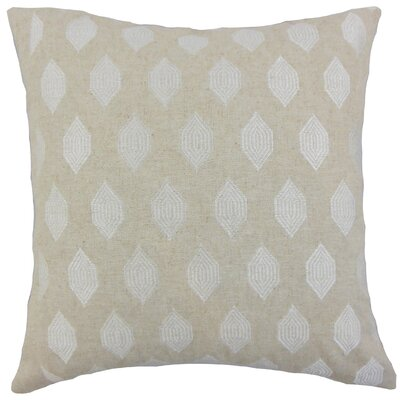 Doucette Geometric Floor Pillow Color: Linen