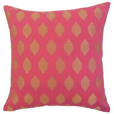 Rascon Doucette Geometric Floor Pillow Color: Magenta
