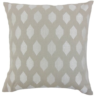 Doucette Geometric Floor Pillow Color: Stone