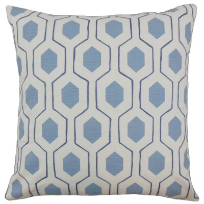 Quinton Geometric Floor Pillow Color: Coast