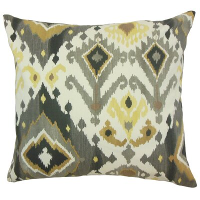 Fairfax Ikat Floor Pillow Color: Black/Camel