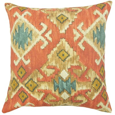 Slyvia Ikat Floor Pillow Color: Red