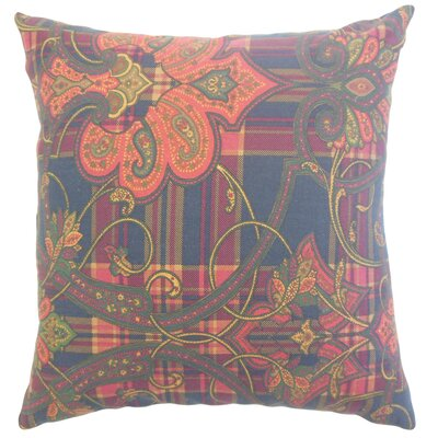 Broughton Damask Floor Pillow Color: Blue