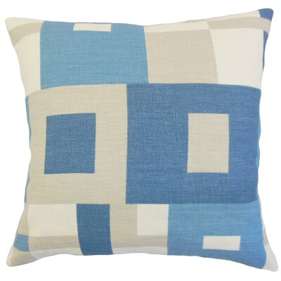 Heath Geometric Floor Pillow Color: Ocean