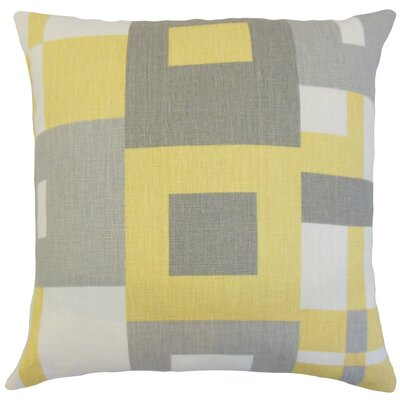 Heath Geometric Floor Pillow Color: Sunrise