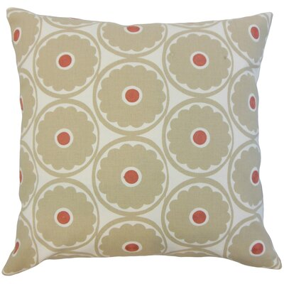 Albert Floral Floor Pillow Color: Driftwood