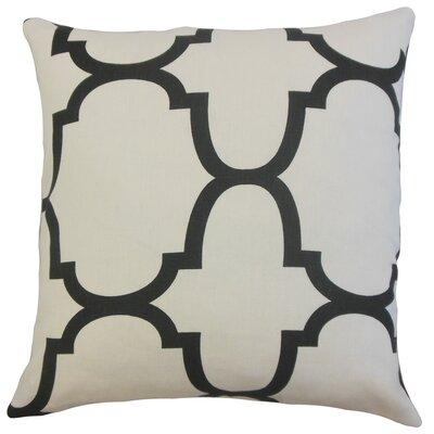Channon Geometric Floor Pillow Color: Jet
