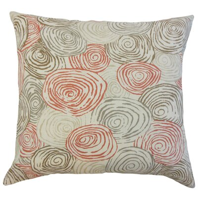 Zakary Graphic Floor Pillow Color: Poppy