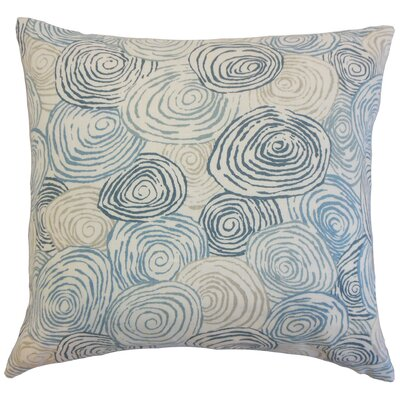 Zakary Graphic Floor Pillow Color: River