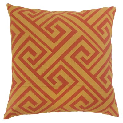 Kriner Geometric Floor Pillow Color: Spice