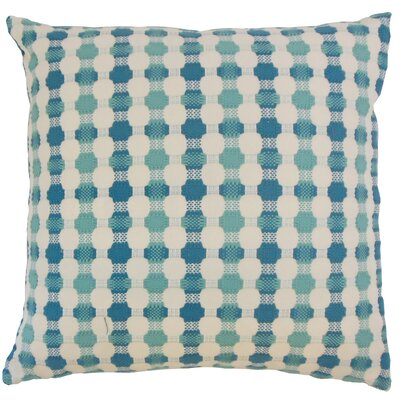 Alfonso Geometric Floor Pillow Color: Bermuda