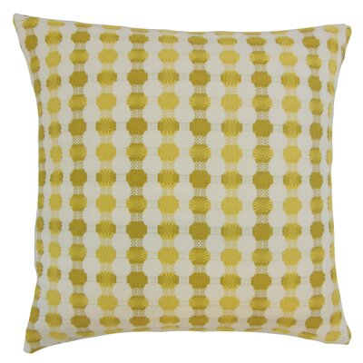 Alfonso Geometric Floor Pillow Color: Lichen