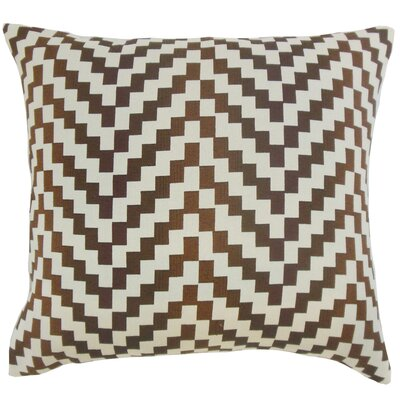 Doss Geometric Floor Pillow Color: Mahogany