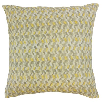 Fredrick Chevron Floor Pillow Color: Citron