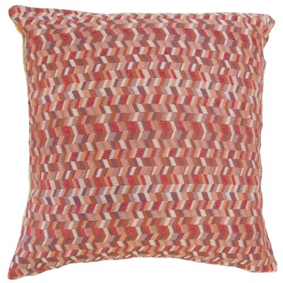 Fredrick Chevron Floor Pillow Color: Geranium