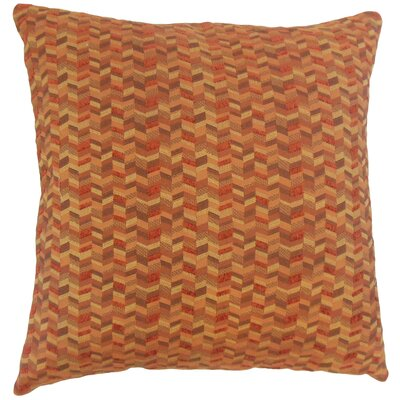 Fredrick Chevron Floor Pillow Color: Marigold