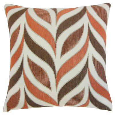 Pablo Geometric Floor Pillow Color: Coral