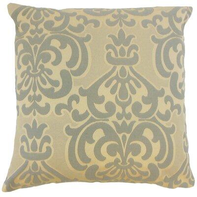 Charlisa Damask Floor Pillow Color: Truffle