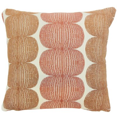 Cady Graphic Floor Pillow Kiwi Color: Marmalade