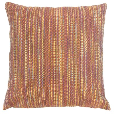 Sangerfield Stripes Floor Pillow Color: Fiesta