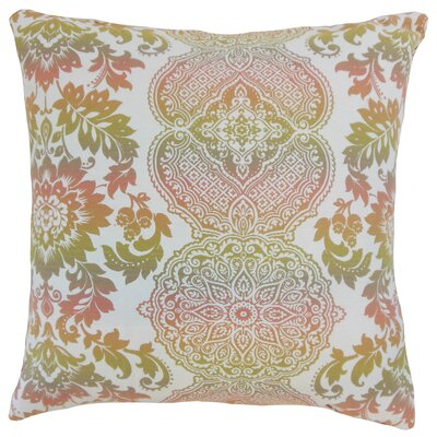 Blase Damask Floor Pillow Color: Primavera
