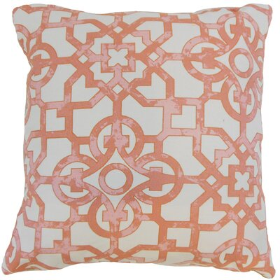 Willowbrook Geometric Floor Pillow Geranium