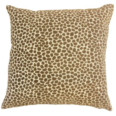 Duddleston Animal Print Floor Pillow Teak