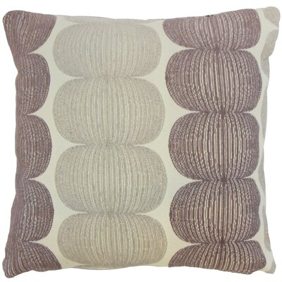 Sophronia Graphic Floor Pillow Kiwi Color: Plum