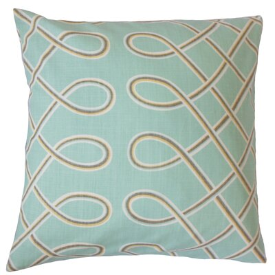Seville Geometric Floor Pillow Color: Pool