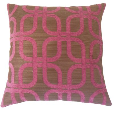 Sharonville Geometric Floor Pillow Color: Berry
