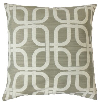 Sharonville Geometric Floor Pillow Color: Gray
