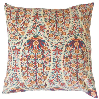 Zeil Floral Floor Pillow Color: Red/Blue