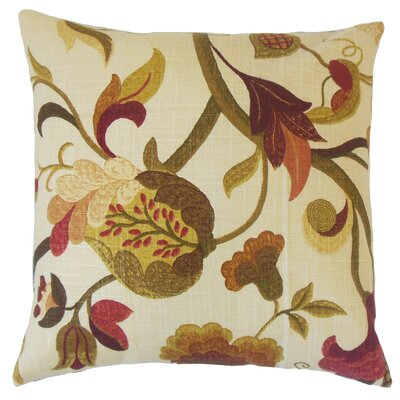 Salem Floral Floor Pillow Color: Autumn