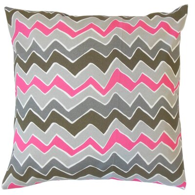 Doyal Zigzag Gray Floor Pillow