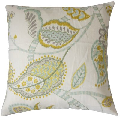 Perron Floral Floor Pillow Color: Peridot