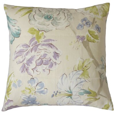 Sage Floral Floor Pillow Color: Blue Green