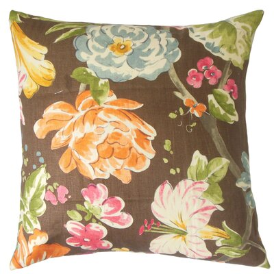 Sage Floral Floor Pillow Color: Terra